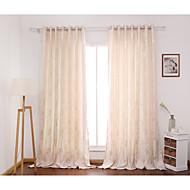 Dvije zavjese Prozor LiječenjeCvijet Bedroom Polyester Materijal Zavjese Zavjese Početna Dekoracija For Prozor