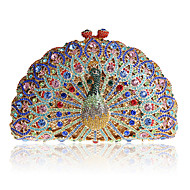 Women Bags All Seasons Metal Evening Bag with Crystal/ Rhinestone for Wedding Event/Party Formal Golden Light Blue Light Green Lilac-pink