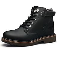 BootsitMiehet-Nahka-Musta Vaalean ruskea Tumman ruskea-Ulkoilu Rento