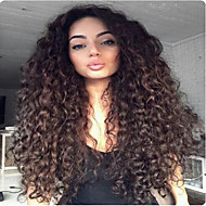 12inches-22inches része csipke első paróka brazil szűz emberi haj nagy göndör parókát afro-amerikai nők