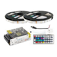z®zdm 2 × 5m 150x5050 SMD RGB LED-Streifen und 44key Fernbedienung (AC110-240V)