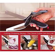 1 רב שימושי / גריפ נוח / איכות מעולה / כלי מטבח בית / Creative מטבח גאדג'ט פלדת על חלד מטחנות ירקות