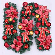 Feliz navidad de CAA de RATn navidad wreathoriginal verde de Navidad koszorú partido decoracin de RATn pvc ornamento