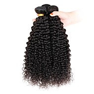 3 darab Kinky Curly Emberi haj sző Indiai haj 100g per bundle 8inch-28inch Human Hair Extensions