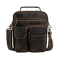 European and American Men Retro casual leather shoulder bag