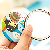 Korean Cartoon Cute  Portable Mirror Mirror  Tin Mirror  Dressing Mirror  (Random Style)
