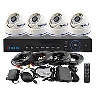 yanse® 4kanálového 960h cctv dvr kit ir barevnou dome kamer bezpečnostních kamer systému 1000tvl 808cf04