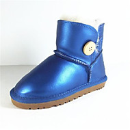 Girl's Boots Winter Comfort Leather Casual Flat Heel Others Black Pink Purple Gold Royal Blue Others