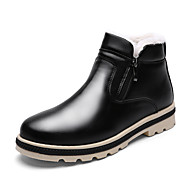 Men's Boots Spring Fall Winter Comfort Leatherette Outdoor Casual Flat Heel Black Gray Khaki
