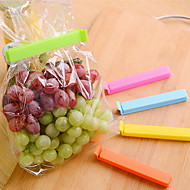5 ks / těsnící hodně velká potravy svačinu Brašna klipy plastové sáčky ziplock klip (náhodné barvy)