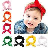 12 шт / комплект младенца узел повязки сплошной цвет тюрбана младенец аксессуары для волос