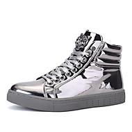 Støvler-laklæder-Komfort-Herre-Sort / Sølv / Guld-Udendørs / Hverdag-Flad hæl