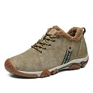 Atletik Ayakkabılar-Açık Hava / Günlük / Atletik-Rahat-Domuz Derisi-Düz Topuk-Mavi / Haki-Erkek