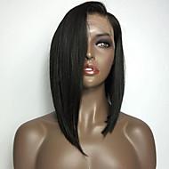 φυσικό μαύρο χρώμα bob ευθεία μπροστά δαντέλα περούκα με ανθεκτικό στη θερμότητα μαλλιά του μωρού συνθετικές περούκες τρίχας για τις