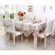 Quadrada Bordado / Floral Toalhas de Mesa , Poli/Mistura de Algodão MaterialHotel Mesa de Jantar / Banquete de Casamento Jantar / Tabela