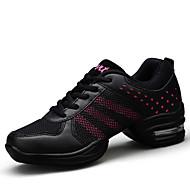 Non Customizable Women's Dance Shoes Leatherette Leatherette Dance Sneakers Split Sole Sneakers Cuban HeelProfessional Outdoor
