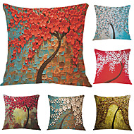 Set of 6 The Three-dimensional Painting Style Series Of 3D Pattern Painting Style 6 Piece Fillow Cover Flannel Pillow