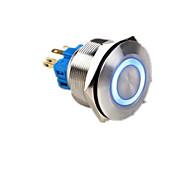 interruptor de botão de metal com lâmpada de reset