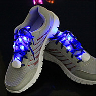 LED Light Up Wearable Shoelaces for Nylon Blue Yellow Green Pink Red White Orange