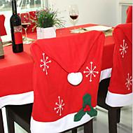 1pcs Weihnachtsdekorationen Vlies Schneeflocken Stuhlhussen 50 * 65cm