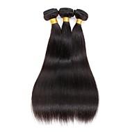 3 elementy Düz Ludzkie włosy wyplata Włosy indyjskie 100g per bundle 8inch-28inch Ludzkich włosów rozszerzeniach