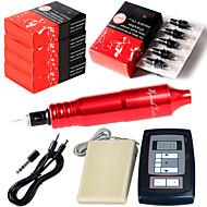 קעקוע קעקוע עט solong מחטי 50pcs דוושת רגל אספקת חשמל הקעקוע דיגיטלי ערכת מכונת קעקוע רוטרי שאיין הוק cartridgesem105kit-2