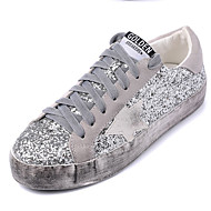 נשים-נעלי ספורט-נצנצים-נוחות-כסוף-קז'ואל-פלטפורמה