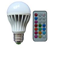 10W B22 E26/E27 LED kulaté žárovky A80 3 High Power LED lm R GB Stmívací Dálkové ovládání Ozdobné AC 85-265 V 1 ks