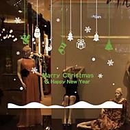 Christmas Solid Classical Window StickerPVC/Vinyl Material Window Decoration