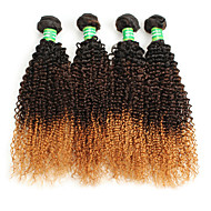 7A Ombre Brazlian Curly Hair Brazilian Virgin Hair Afro Kinky Curly 4 Bundles Ombre Human Hair Kinky Curly Virgin Hair