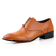 Men's Oxfords Spring / Fall Comfort PU Casual Flat Heel Zipper Black / Yellow / Red Others