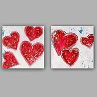 Ručně malované Abstraktní / Lidé olejomalby,Moderní / Realismus Dva panely Plátno Hang-malované olejomalba For Home dekorace
