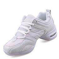 Kadın Dans Sneakerları Sentetik Spor Ayakkabı Egzersiz İç Mekan Dış Mekan Küba Topuk Beyaz Siyah ve Altın Kişiselletirilmemiş