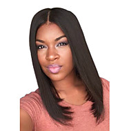 Short Straight Medium Side Bang Synthetic Wigs Black Dark Brown Heat Resistant Hair