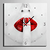 E-HOME® Red Lips Clock in Canvas 1pcs