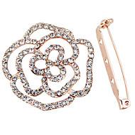 Femme Couple Filles´ Broche Imitation de diamant Argent Or/Blanc Bijoux Mariage Soirée Halloween Quotidien Décontracté