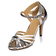 Sapatos de Dança(Prateado / Dourado) -Feminino-Personalizável-Latina / Moderna / Salsa
