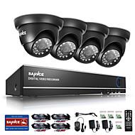 outdoor ir sistema de câmera de segurança em casa 1080n 4 canais HD DVR CCTV sannce 720p