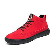 Men's Sneakers Spring Summer Fall Winter Comfort Suede Outdoor Office & Career Casual Flat Heel Black Red Gray