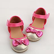 Для детей Девочки Дети Сандалии Удобная обувь Полиуретан Повседневные Удобная обувь Золотой Серебряный На плоской подошве
