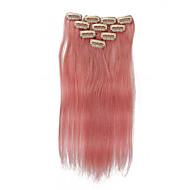 10 clipes 18inch 10pcs clipe em extensões do cabelo 32g ombre humano destacou cabelos lisos