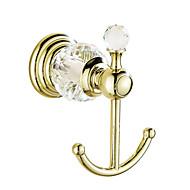 Robe Hook / Gold9*9.5*6 /Brass / Crystal /Contemporary /9 9.5 0.45