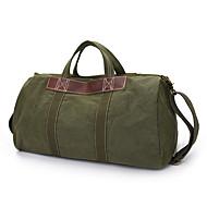 Men Women Big Volume Cowhide Canvas Sports Outdoor Tote Duffle Handbag Travel Bag