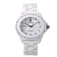 Tevise Női Páros Divatos óra mechanikus Watch Szimulált Gyémánt Karóra Kvarc Vízálló Fénylő utánzat Diamond Rozsdamentes acél Zenekar