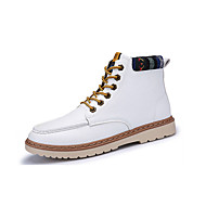Støvler-PU-Komfort-Herre-Sort Blå Rød Hvid-Fritid-Flad hæl