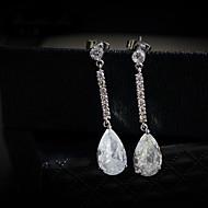 Náušnice imitace drahokamu Náušnice Set Šperky Dámské Svatební / Párty Štras / Postříbřené 1 pár Průsvitné