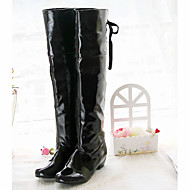 Kényelmes Újdonság-Alacsony-Női cipő-Csizmák-Esküvői Irodai Ruha Alkalmi Party és Estélyi-Lakkbőr Bőrutánzat-Fekete Piros Fehér