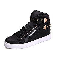 Men's Sneakers Spring / Summer / Fall / Winter Comfort Leather Outdoor / Office & Career / Casual Flat Heel Black White Red