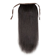 16-24inch 100% Real human hair clip in high ponytail Human Hair Extension 80G
