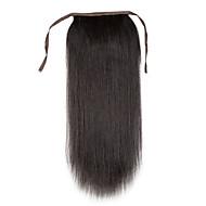 16-24inch 100% grampo de cabelo humano real em rabo de cavalo alto cabelo humano extensão 80g